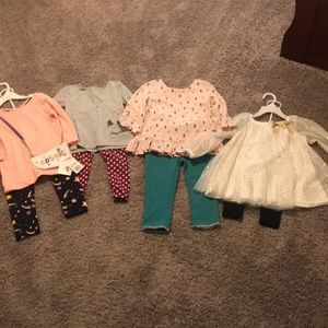 Other - 8 Piece Girls Lot Matching Tops and Pants some NWT
